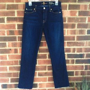 7 for all mankind skinning straight leg jeans 27